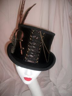Mens Steampunk Top Hat by FuturisticPast on Etsy, £79.99