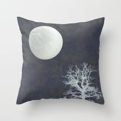 With that Moon Language Throw Pillow by Anipani