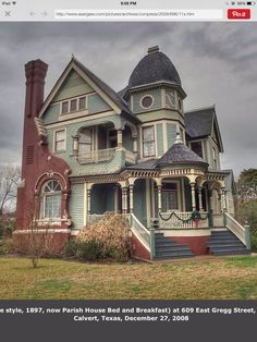 OldHouses.com   1897 Victorian: Queen Anne   Historic Texas Victorian In  Terrell, Texas | Victorian Houses | Pinterest | Queen Anne, Victorian And  Texas