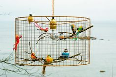 Copper Birdcage Pendant Light Chandelier by Kekoni on Etsy