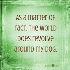 ‪As a matter of fact, the world does revolve around my dog... at least my world does!!! 💗 LB