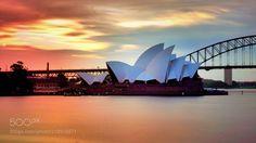 夕阳下的悉尼歌剧院 by 6821ad99d472f8d179be0d81599756625
