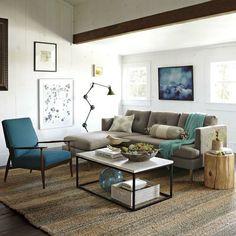 kleines wohnzimmer einrichten, farbige deko akzente | Living ...