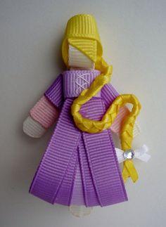 Rapunzel Hair-clip (Ribbon Sculpture):