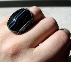 Black Sardonyx Ring