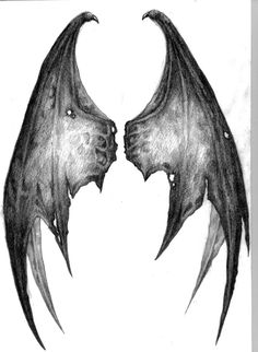 Right wing for back for demon angel wings
