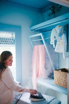 Everything You Need to Crush Laundry in a Small Space Utility Room Inspiration, Bleach Alternative, Lost Socks, Vertical Storage, Hanging Rail, Low Shelves, Baby On The Way, Big Challenge, Farrow Ball