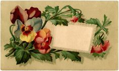 Vintage Pansy Label ~The Graphics Fairy