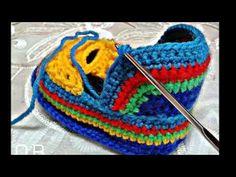 Crochet. Muestra en fotos de como se hacen algunos modelos de zapatillas