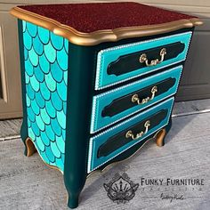 Home Furniture Drawing Funky Painted Furniture, Decoupage Furniture, Refurbished Furniture, Paint Furniture, Repurposed Furniture, Furniture Projects, Kids Furniture, Furniture Makeover, Furniture Design