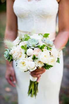 Succulent bouquets: http://www.stylemepretty.com/collection/2094/ | Photography: Janae Shields - http://janaeshields.com/