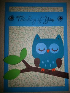 Cricut Create a Critter Owl on Branch  www.angelssendinghope.com