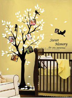 Sweet Memory Tree Photo Frame Wall Decals– WallDecalMall.com