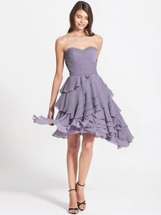 Draped Tiers Romantic Strapless Dress   Plus and Petite sizes available! Hundreds of styles, tons of colors!
