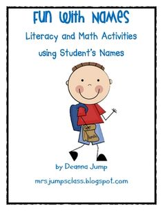 Pre-K, Kindergarten, First Grade ...This is a resource full of fun, engaging name activities to do during the school year.  Over 36 pages of activities.  Full color pictures of exampl...