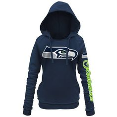 Women's Seattle Seahawks 5th and Ocean by New Era Scarlet Snap Count Pullover Hoodie