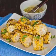 Corn with Jalapeno-Garlic Butter - this jalapeno-garlic butter adds a new flavor dimension to this summer favorite.