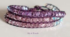 Purple Wrap Bracelet by Ally & Woozle