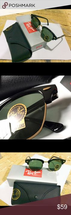 b08c59157bb RB clubmaster sunglasses RB clubmaster sunglasses Dark green lenses 51mm  100% authentic Fast shipping and