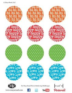 Free bottlecap printables!