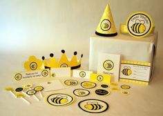 Bee Party ideas. No templates, just the pictures to get some inspiration. X