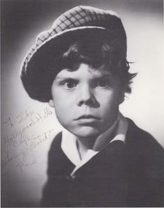 """Tommy """"Butch"""" Bond,  child actor. Fondly remembered for his role of 'Tommy' and later as 'Butch' in the Our Gang / Little Rascals comedies of the 1930s and 40s.  1st. Jimmy Olsen in Superman. 1926-2005"""