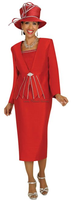 GMI G3912 Red Womens Church Suits