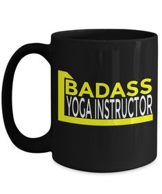 Yoga Instructor Gifts - Yoga Mug Coffee - Yoga Lover Gift - 15oz Yoga Coffee Mug - Badass Yoga Instructor  #christmas #yesecart #quote #birthdaygifts #birthdaywishes #coffeemug #coffee #coffeetime #quotesandsayings #him