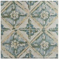 Merola Tile Klinker Retro Blanco Coreo 12-3/4 in. x 12-3/4 in. Ceramic Floor and Wall Quarry Tile-FGAKRTB8 - The Home Depot