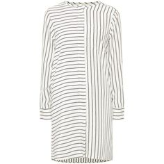 WEEKEND MAX MARA Laerte Striped Tunic ❤ liked on Polyvore featuring tops, tunics, long sleeve tops, stripe tunic, striped long sleeve top, striped top and silk tunic