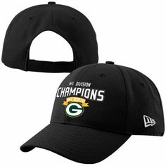 New Era Green Bay Packers 2013 NFC North Division Champions 9FORTY Adjustable Hat - Black