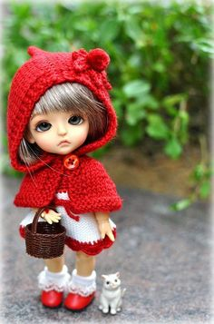 Little Red Riding Hood. Tiny Dolls, Blythe Dolls, Barbie Dolls, Little Doll, Little Red, Pretty Dolls, Beautiful Dolls, Cute Baby Dolls, Cute Cartoon Wallpapers