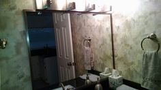 Bathroom Mirror With Aluminum Frame Trim By: Delta Glass Houston