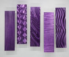 "Metal Abstract Modern Painting Wall Art Easy Pieces Purple"" by Jon Allen Purple Home, Purple Art, Mirror Wall Art, Metal Wall Art, Mirrors, Purple Bedroom Decor, Purple Pillows, Metal Art Sculpture, Abstract Canvas Art"