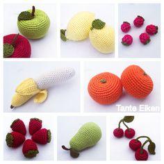 Amigurumi Fruits / Playfood /// Häkel Obst Crochet Food, Free Crochet, Crochet Designs, Crochet Patterns, New Love, Projects, Crochet Fruit, Scrappy Quilts, Feltro