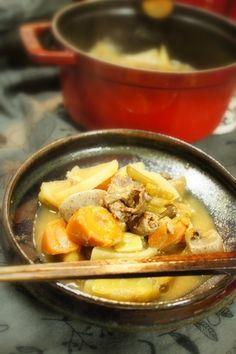 うりぼうの粉 : もつ煮
