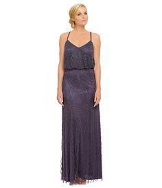 Adrianna Papell Beaded Blouson Gown   Dillards.com