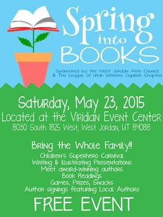 Come meet local Utah authors May 23, 2015