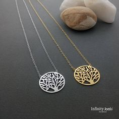 Excited to share the latest addition to my #etsy shop: Tree of Life Necklace, Tree Necklace, Sterling Silver Necklace, Pendant Necklace, Jewelry, Gift for her, Gold necklace , gold tree of life https://etsy.me/2wzYyhm #jewelry #necklace #yes #women #minimalist #treeofl