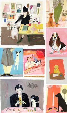 AVSM: #FindYourWhimsy (Illustrations by Maira Kalman) - the dog jumping!