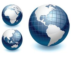 Vector Globe Different Views