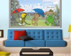 """Fenstersticker-Set """"Spazieren im Regen"""""""