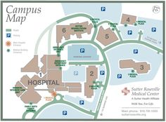 One of great medical centers in Roseville California - campus map ...