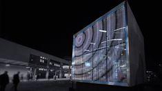 Peter Platz - HIGHTECH VERBUNDGLAS MIT INTEGRIERTEN LEUCHTDIODEN LED glass in SG Curtain wall powerglass