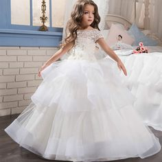 Find More Flower Girl Dresses Information about Bealegantom White Lace Ball Gown Flower Girl Dresses 2017 with Appliques Beading Girls Pageant Gown First Communion Dresses FD27,High Quality dresses formal,China dress web Suppliers, Cheap dresses for fat people from Bealegantom Wedding Flagships Store on Aliexpress.com