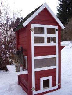 This cat house would not look out of place in any back yard #cathouses