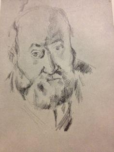 Paul Cezanne - Self portrait Mermaid Drawings, Art Drawings, Cezanne Portraits, Abstract Art For Kids, Art Photography Portrait, Beginner Painting, Sketch Painting, Gravure, Illustration