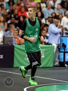 Video: Justin Bieber Attends The Sprite Celebrity Basketball Game 2014