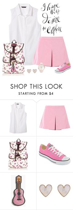 """""""Desire to travel (backpack contest)"""" by kim-mcculley ❤ liked on Polyvore featuring Banana Republic, Love Moschino, Superdry, Converse, Madewell, New Look, Ted Baker and holdontothatbag"""