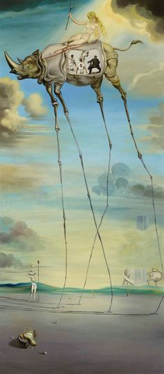 Celestial Ride by Dali. Salvador Dali the greatest to ever live Salvador Dali Gemälde, Salvador Dali Paintings, Fine Art, Art And Illustration, Surreal Art, Art History, Amazing Art, Awesome, Modern Art